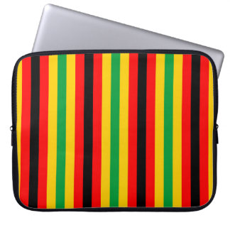 Zimbabwe flag stripes lines country colors laptop sleeve