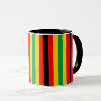 Zimbabwe flag stripes lines country colors mug
