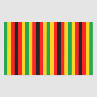 Zimbabwe flag stripes lines country colors rectangular sticker