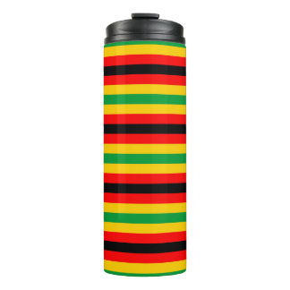 Zimbabwe flag stripes lines country colors thermal tumbler