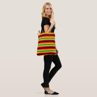 Zimbabwe flag stripes lines country colors tote bag
