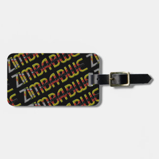 Zimbabwe Flag Typography Pattern African Country Luggage Tag