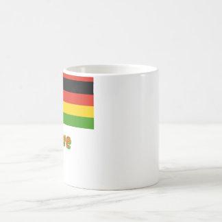 Zimbabwe Flag with Name Coffee Mug