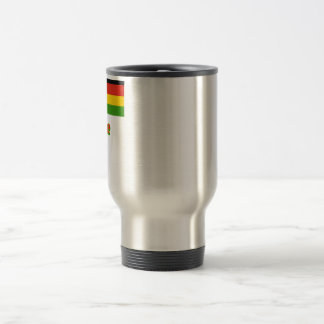 Zimbabwe Flag with Name Travel Mug