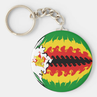 Zimbabwe Gnarly Flag Key Ring