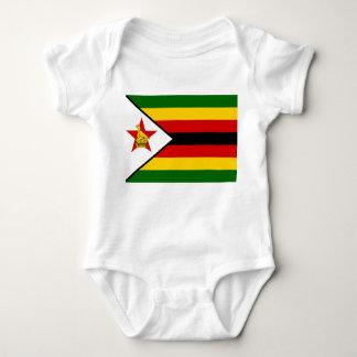 Zimbabwe National World Flag Baby Bodysuit