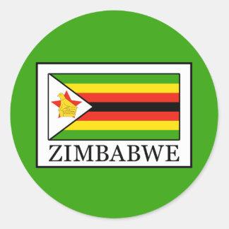 Zimbabwe Round Sticker