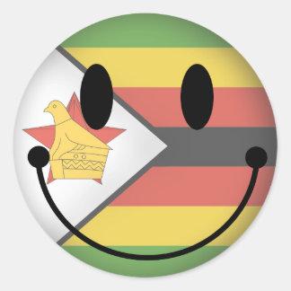 Zimbabwe Smiley Classic Round Sticker