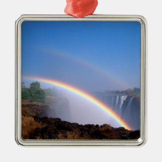 Zimbabwe, Victoria Falls National Park. Double Metal Ornament