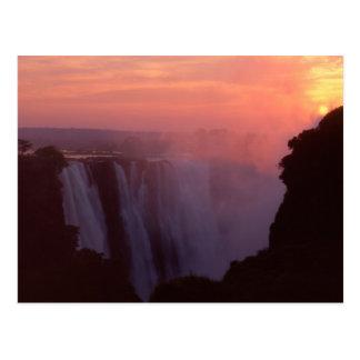 Zimbabwe, Victoria Falls National Park. Misty Postcard
