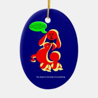 ZIMKA BB - You Deserve Ceramic Oval Decoration