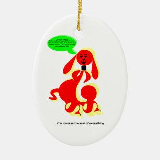 ZIMKA NB - You Deserve Ceramic Oval Decoration