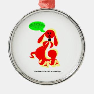 ZIMKA NB - You Deserve Silver-Colored Round Decoration
