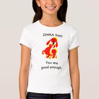 ZIMKA Says Girls' Bella Fitted Babydoll T-Shirt