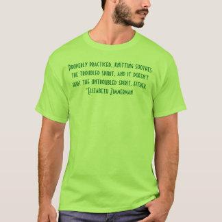 Zimmerman knitting quote tee shirt