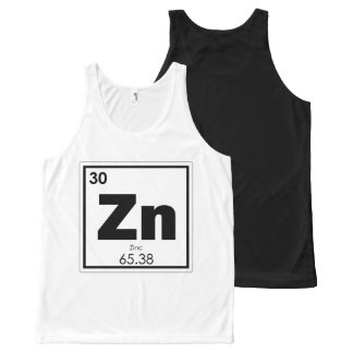 Zinc chemical element symbol chemistry formula gee All-Over print singlet