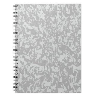 Zinc Plate Background Spiral Notebook
