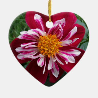Zinnia Ceramic Heart Decoration