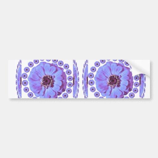 ZINNIA Flower Collage -  Sensual Romance Bumper Stickers