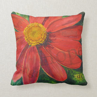Zinnia of Hope pillow