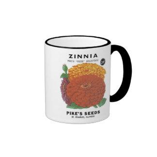 Zinnia, Pike's Seeds Coffee Mugs