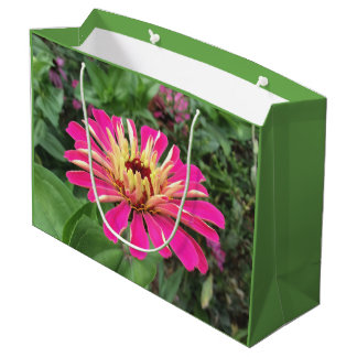 ZINNIA - Vibrant Pink and Cream - Large Gift Bag