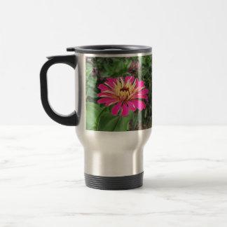 ZINNIA - Vibrant Pink and Cream - Travel Mug