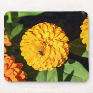 Zinnia with Fly Mouspad Mouse Pad