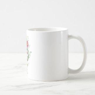 Zinnias, Hollyhocks & Sunflower Bouquet by Prevost Coffee Mug
