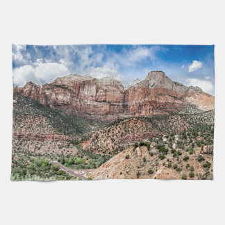 zion canyon national park kitchen towels