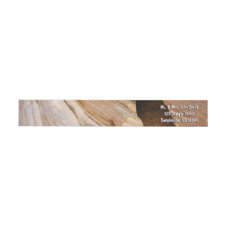 Zion Canyon Wall I Abstract Nature Photography Wrap Around Label
