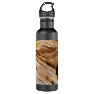 Zion Canyon Wall II Red Rock Abstract Photography 710 Ml Water Bottle