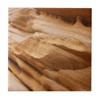 Zion Canyon Wall II Red Rock Abstract Photography Small Square Tile