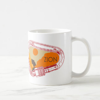 Zion Climbing Carabiner Coffee Mug