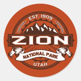 Zion Crimson Round Stickers