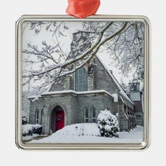 Zion Episcopal Church Silver-Colored Square Decoration