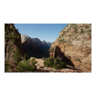 Zion from Angels Landing Trail Zion National Park Poster