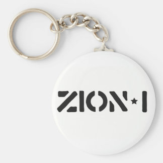 Zion-i Simple Basic Round Button Key Ring