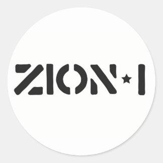 Zion-i Simple Round Sticker