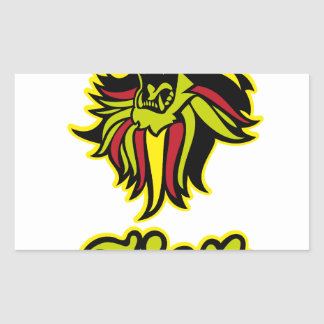 Zion. Iron Lion Zion HQ Edition Color Rectangular Sticker