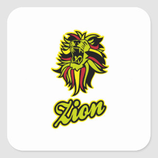 Zion. Iron Lion Zion HQ Edition Color Square Sticker