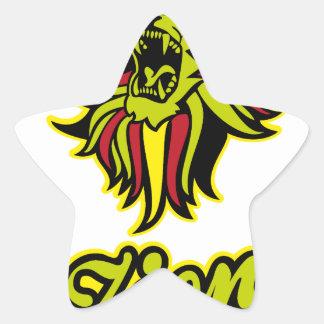 Zion. Iron Lion Zion HQ Edition Color Star Sticker