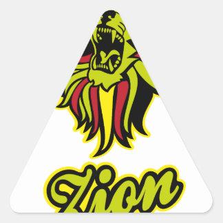 Zion. Iron Lion Zion HQ Edition Color Triangle Sticker