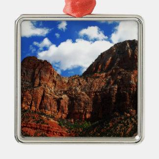 Zion Mountains National Park Metal Ornament