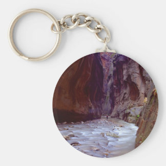 Zion Narrows Hiking Through The River In Zion Narr Key Ring