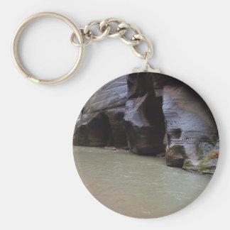 Zion Narrows Streams Hiking Wading Key Chain