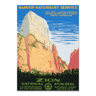 Zion National Park 13 Cm X 18 Cm Invitation Card