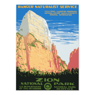 Zion National Park 14 Cm X 19 Cm Invitation Card