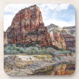 Zion National Park Angels Landing - Digital Paint Coaster