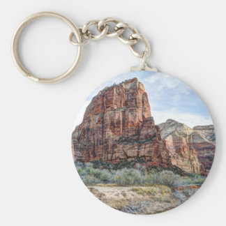 Zion National Park Angels Landing - Digital Paint Key Ring